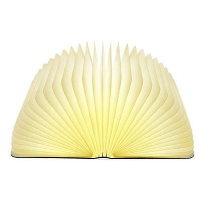 Lixada LED Book Lamp Wooden Folding Nightlight Light 4.5W 500LM...