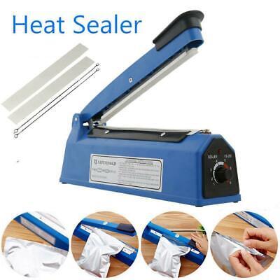 8 Hand Sealer Impulse Heat Manual Sealing Machine Plastic Poly Bag Closer Kit