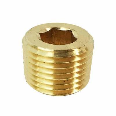 Brass Hex Headless Plug 14 Npt Male - Fpp42b