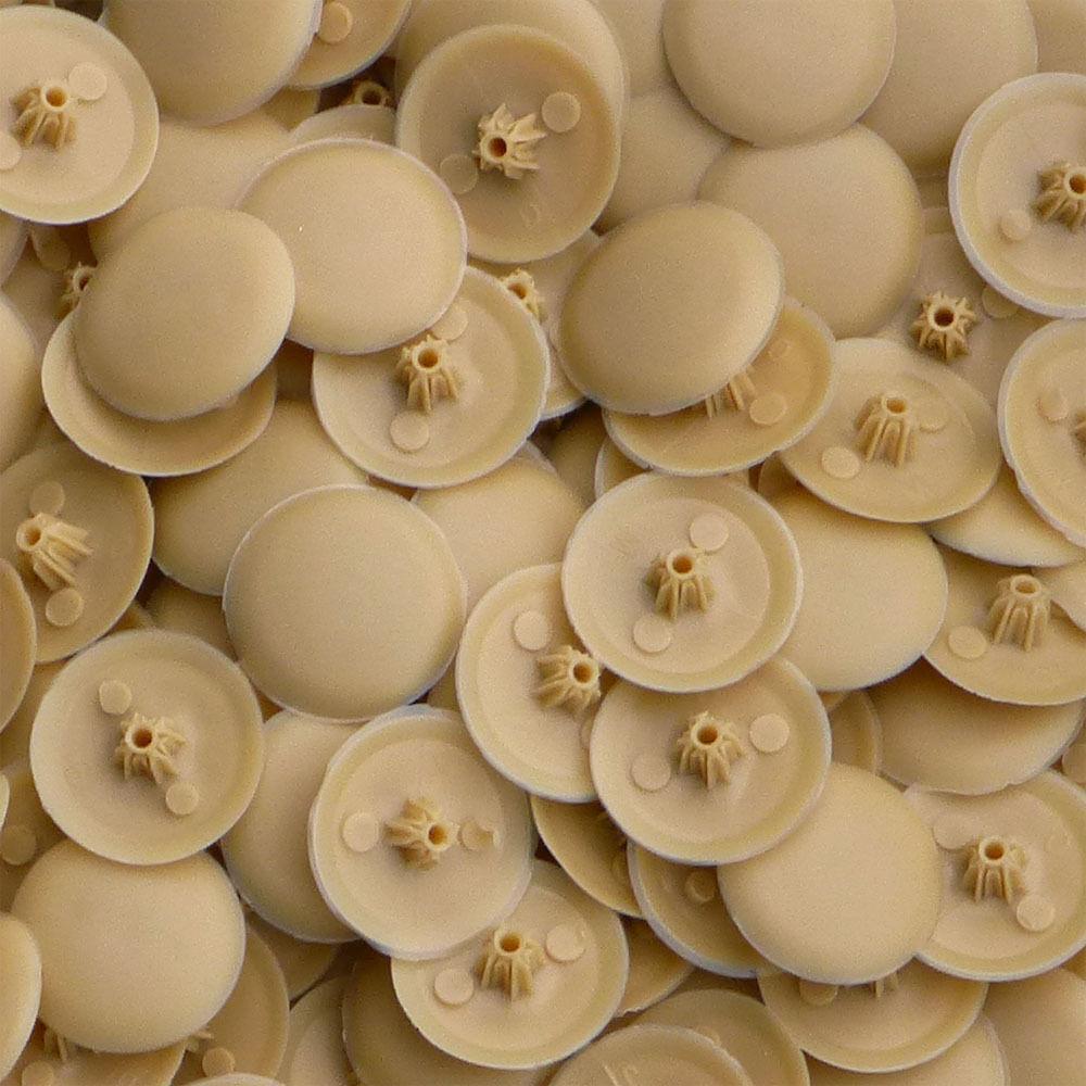 BUFF BROWN BIFIX SCREW COVER CAP PHILLIPS PH2 /& POZIDRIVE PZ2 PRO-DEC FIXINGS