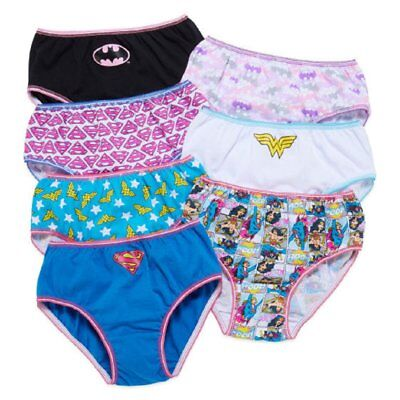 Justice League Panties Toddler Girls Briefs 7-Pack 2T/3T, 4T Underwear - Justice League Girl