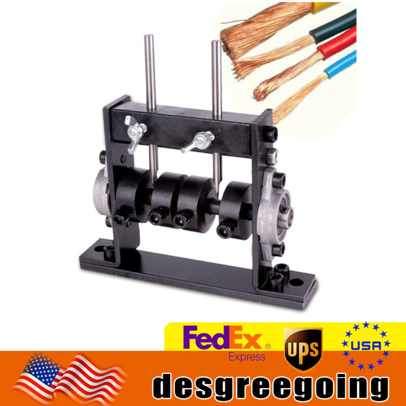Steel Durable Copper Wire Stripping Machine Manual Drill Operated Cable Stripper
