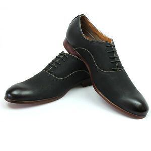 new men's black ferro aldo shoes round toe oxfords casual