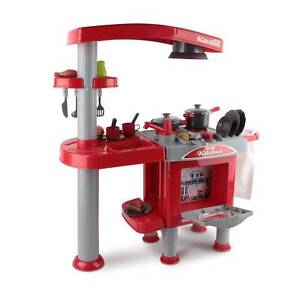 AUS FREE DEL-Colourful Kids Kitchen Pretend Play Set Red, Ages 3+ Sydney City Inner Sydney Preview