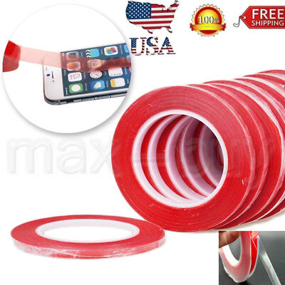 3M RED Film Double Sided Sticky Adhesive Tape For Cell Phone LCD Screen -