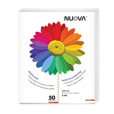 Nuova Lp50h Thermal Laminating Pouches 9 X 11.5 Inches Letter Size 3 Mil50-pa