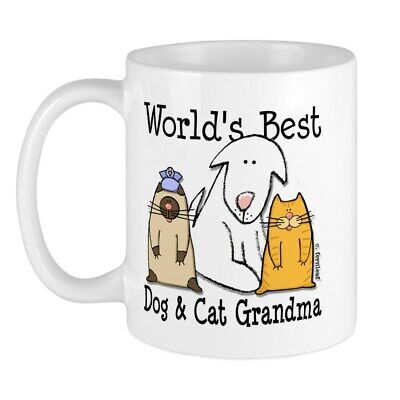 CafePress World's Best Dog And Cat Grandma Mug 11 oz Ceramic Mug