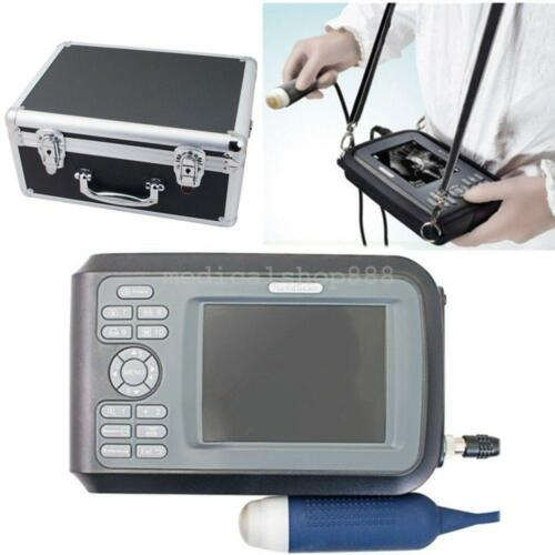 NEW LCD PORTABLE ULTRASOUND SCANNER MACHINE UNIT SMALL ANIMAL VETERINARY + CASE USA