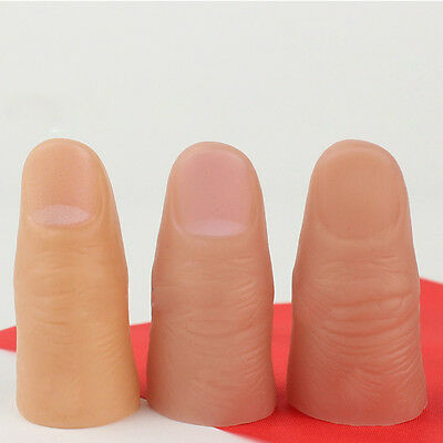 3Pcs Magic Thumb Tip Trick Rubber Finger Props Toys Kids Halloween Party Acc Kit (Halloween Party Magic Tricks)