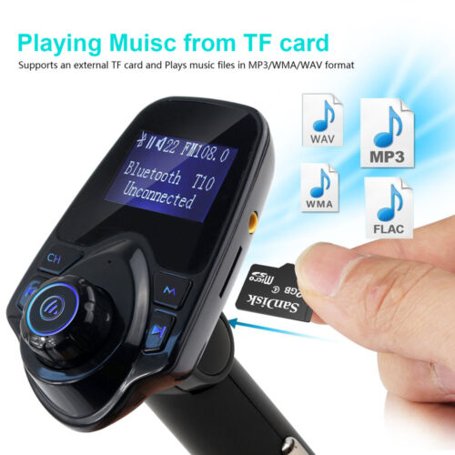 Купить AGPTEK - Bluetooth Car FM Transmitter Wireless Radio Adapter USB Charger Mp3 Player