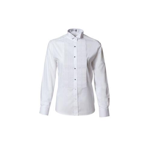 Ladies TUX PARK White Wing Pleated Womens Tuxedo Shirt Tux Adj.Collar QUALITY