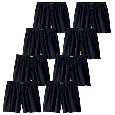 Le Jogger 8er Pack Herren Boxershorts,klassisch weite Boxer, Unterhosen, schwarz - Klassische Baumwolle Boxer
