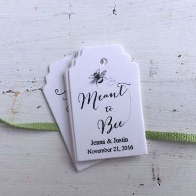 Mason Jar Favor Tags,Meant to Bee,Favor Personalized Tag, Honey Jar Favor Tags