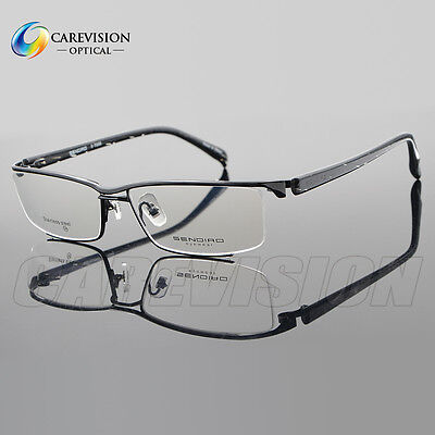 Acetate Temples Frame - Designer Halfrim Metal Driving Eyeglasses Frames Acetate Temple Optical Eyewear