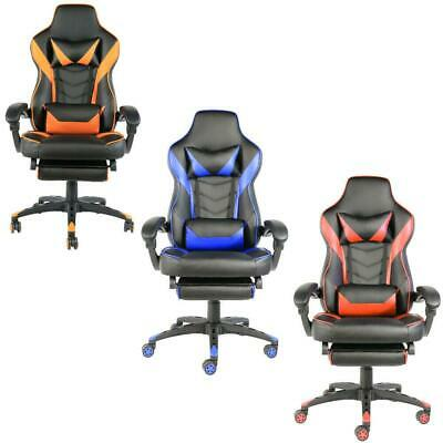 Recliner Office Gaming Chair Racing Ergonomic Pu Leather High Back Computer Seat