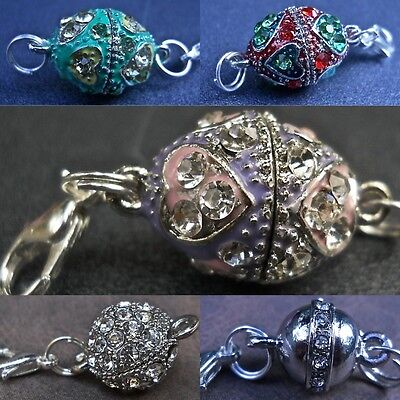 Strong Rhinestone Ball Magnetic Jewelry Clasps Converter Necklace Fast Ship USA