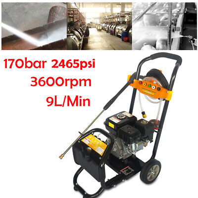 2.4 Gpm 7.5hp Gas Pressure Washer With Power Spray Gun 5 Nozzles Ohv-motor Dhl
