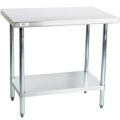 30 X 36 Stainless Steel Work Prep Shelf Table Restaurant Kitchen Commercial