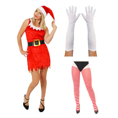 ESS RED AND WHITE MRS CLAUS FATHER CHRISTMAS FANCY DRESS (Santa And Mrs Claus Kostüm)