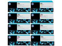 HP 771 Inks, 3 full sets sets including 3 sets of printheads.
