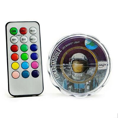 NEW MVP Lunar Module Disc Golf Basket Remote Control LED Light System