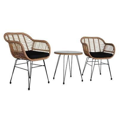 Garden Furniture - 3piece Wicker Rattan Patio Outdoor Furniture Conversation Bistro Set Garden New
