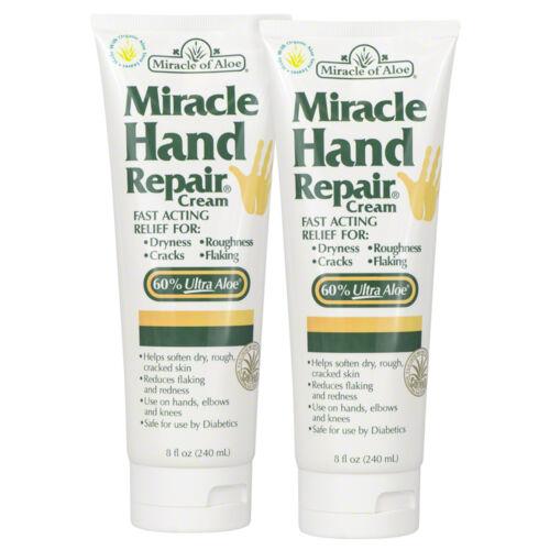 Miracle Hand Repair Cream 8 ounce tube with 60% UltraAloe - 2 Pack