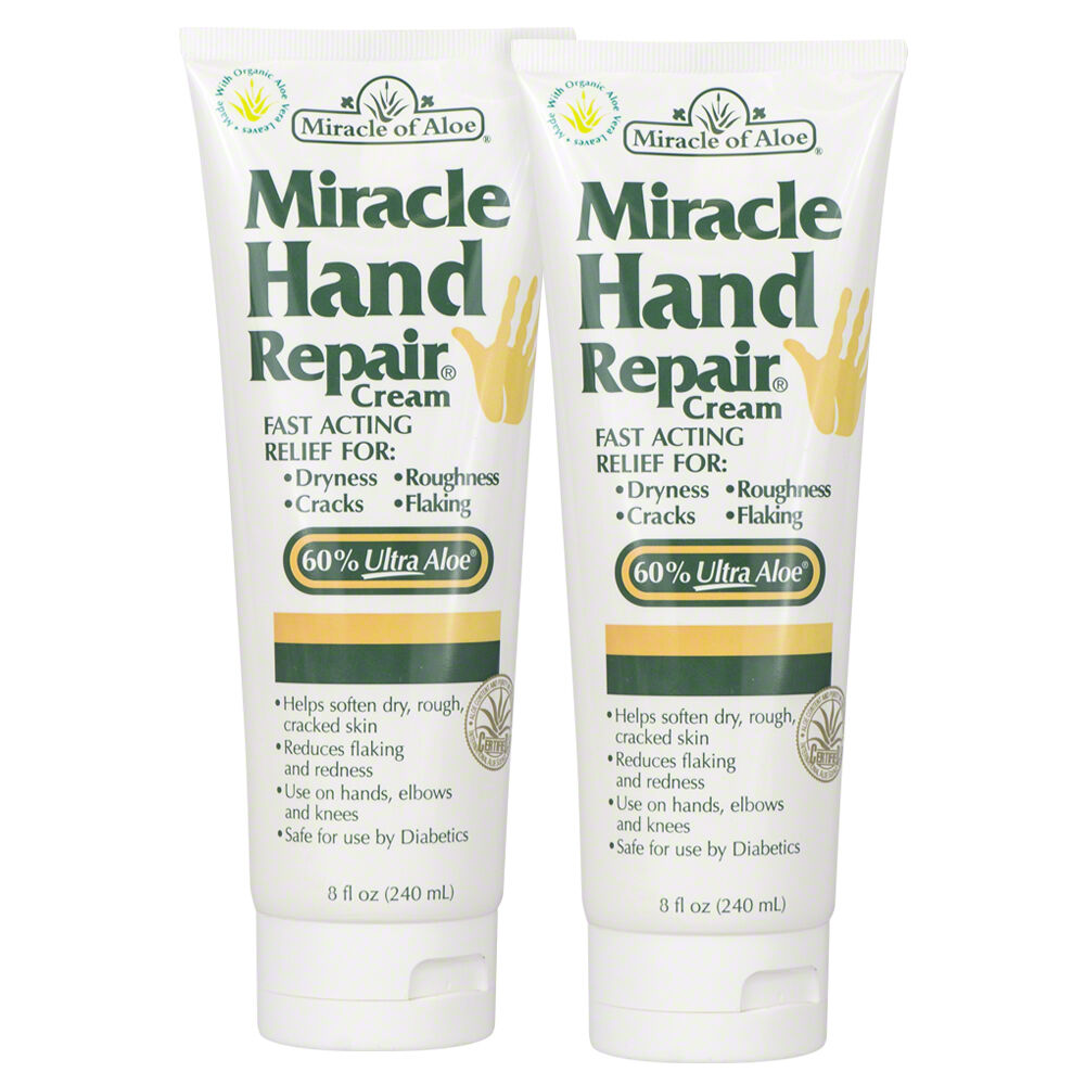 Miracle Hand Repair Cream 8 ounce tube with 60% UltraAloe -