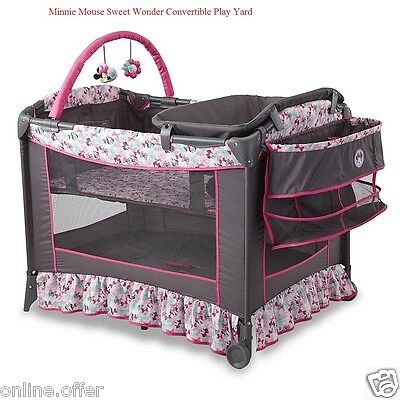 Disney Baby Bassinet Convertible Safety Minnie Mouse Newborn Pack and Play - Minnie Mouse Pack And Play