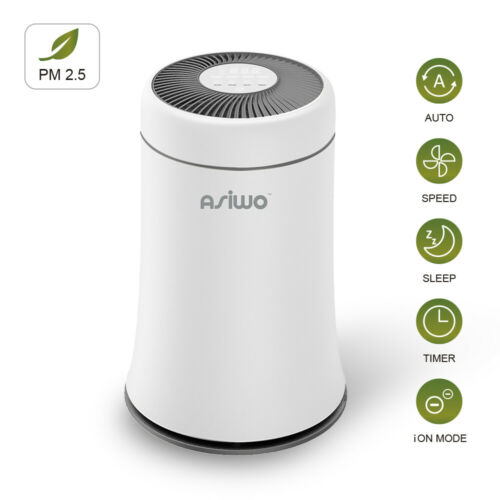Asiwo Air Purifier HEPA Filter Smoke Pet Dander Odors Negati