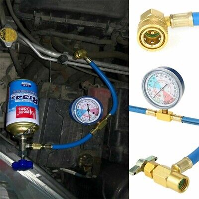 Car Vehicle Air Conditioning Refrigerant Recharge Kit A/C r134a Hose Gas-Gauge