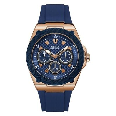 GUESS W1049G2 Legacy Blue Dial Blue Silicone Men's Watch
