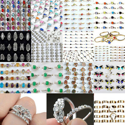 Bulk Wholesale (Bulk Wholesale Lots Mixed Style Silver Women Kids Rings Costume Jewelry)
