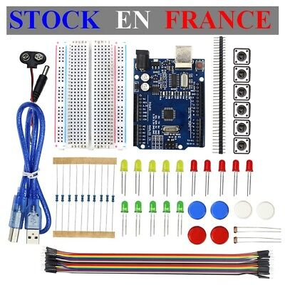Starter Kit Dlearning Of Base Arduino Uno R3 Button Led Plate Test
