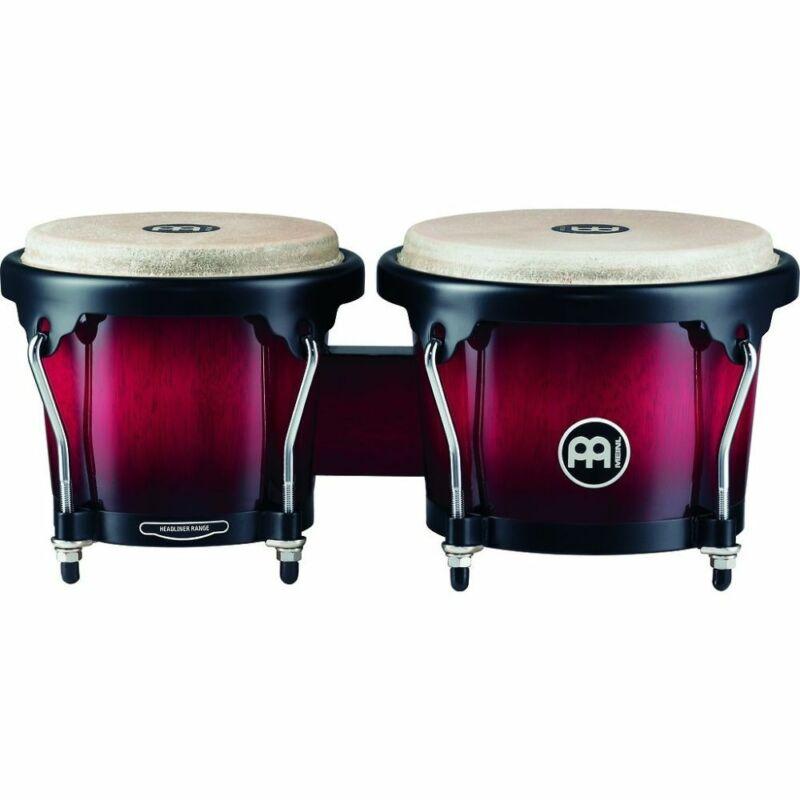 Meinl Headliner Wood Bongos 6 3/4 & 8 Wine Red Burst