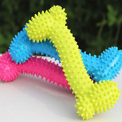 Bone Pet Toy - Pet Dog Toy Teething Healthy Gums Chew Bone Random Color 1 PC Dog Supplier Toy