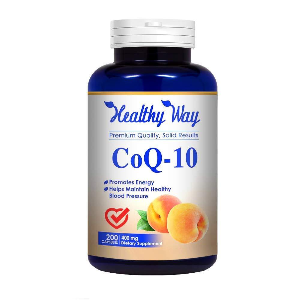Pure CoQ10 Supplement 400mg Heart Health 200 capsules - FREE