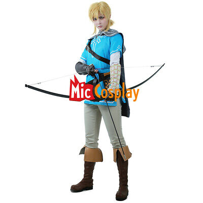 The Legend of Zelda Breath of the Wild Link Cosplay Costume Anime Men Outfit