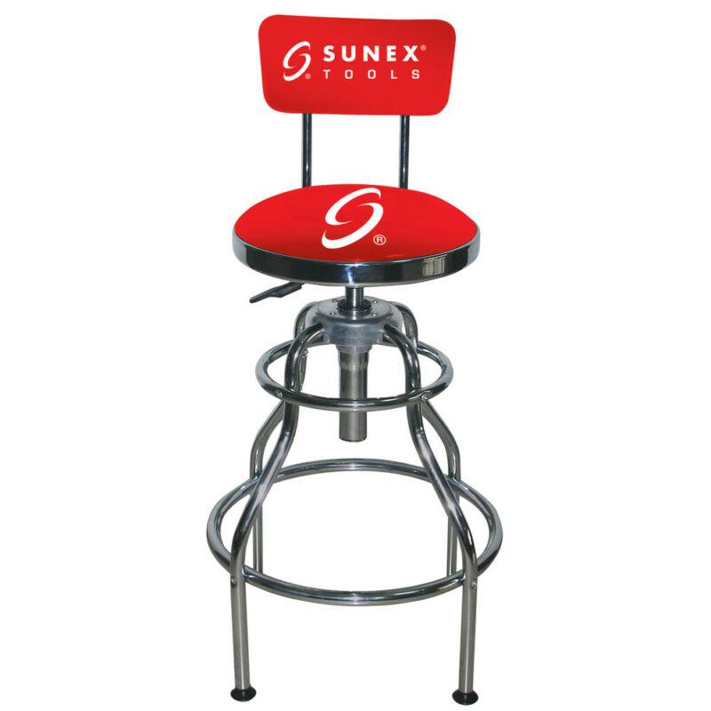 Sunex Tools Sunex Hydraulic Shop Stool(chrome) 8516 New