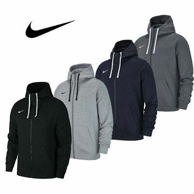 Nike Mens TEAM CLUB 19 JACKET Top Full Zip Hoodie Cotton Sportswear Gym Training