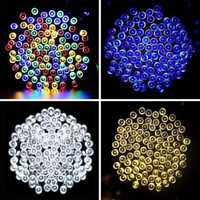 72ft 200 LED Solar Power Fairy Light String Lamp Party Xmas Garden Outdoor Decor