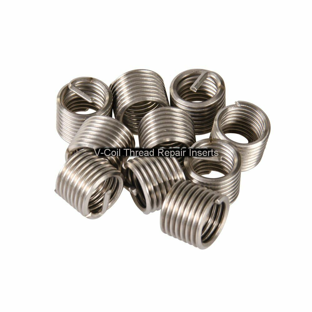 V-Coil Wire Thread Repair Inserts 1//4 X 28 UNF 1.0D 10 off Helicoil Compatible