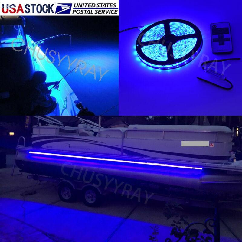 UV Blue LED Strip Light Night Fishing UV Ultraviolet boat 12v fluorescent line