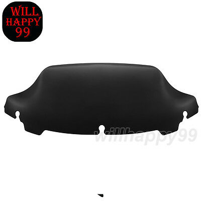 "Dark Tint 7""Wave Windshield Windscreen Fit for Harley Touring Street Glide 14-19"