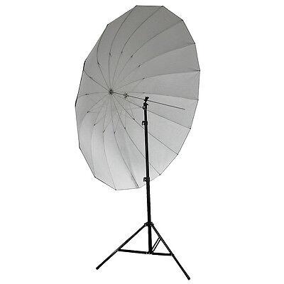 "Neewer 72"" Black / Silver Reflective Parabolic Umbrella Studio Pro 16-Rib +Bag"