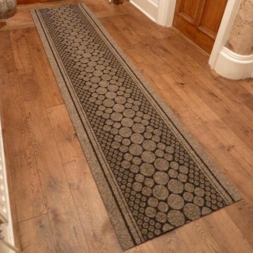 cork brown hallway carpet runner rug mat for long hall anti non slip gel back ebay. Black Bedroom Furniture Sets. Home Design Ideas