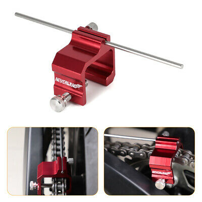 Motorcycle Red Chain Sprocket Alignment Tool For Honda Harley Bicycle ATV Quads