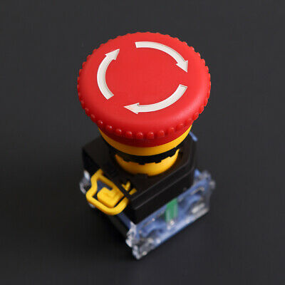 22mm 440v Self Locking Cnc Mushroom Cap Emergency Stop Push Button Switch Nonc