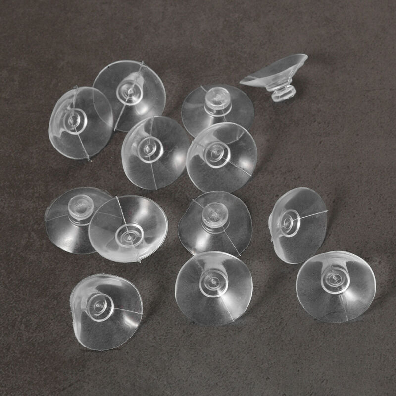 20pcs Round Button Suction Cups//Pads Window Suckers Clear Rubber//Plastic 18mm