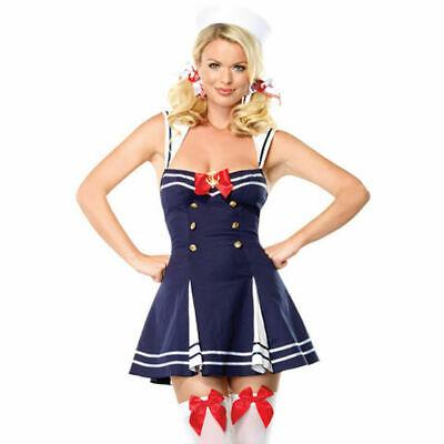 83552 Leg Avenue 2 Piece Flirty First Mate Sailor Halloween Costume SZ XS ()
